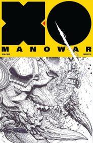 X-O Manowar 1 Black / White Variant